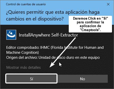 autorizar cambios a la aplicación cmaptools